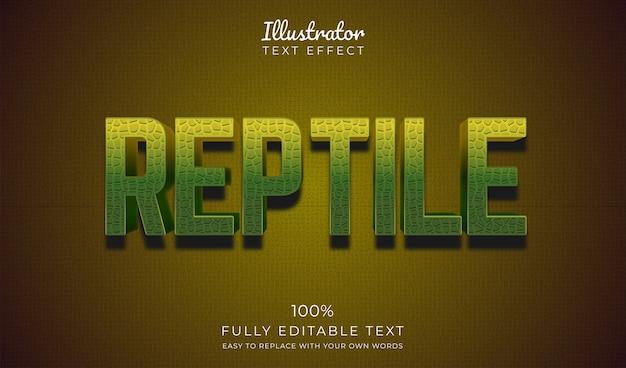 Reptilien-texteffekt. bearbeitbarer schriftstil