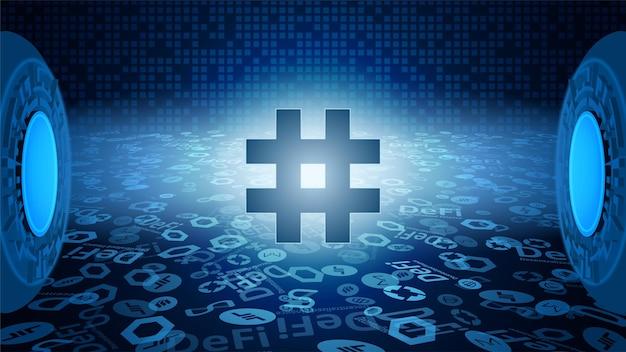 Reserve rights token rsr-symbol des defi-systems, das in den lichtstrahlen leuchtet. symbol für das logo der kryptowährung. dezentrale finanzierungsprogramme. vektor-eps10.