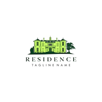 Residence illustration logo