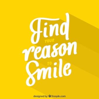 Reson to lächeln hintergrund