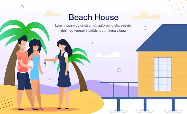 Resort beach house miete flat ad banner