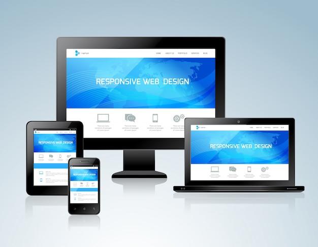 Responsive design-konzept