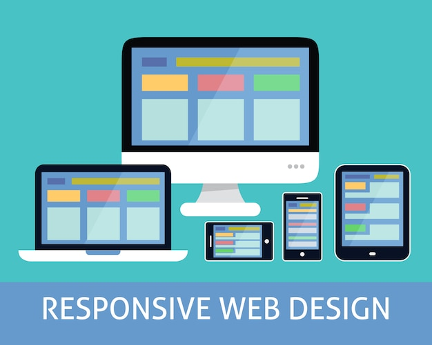 Responsive web-design-konzept