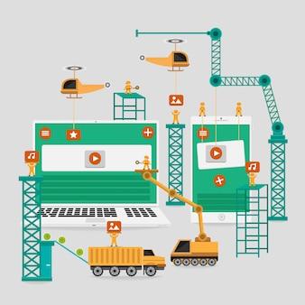 Responsive web engineer-schnittstellenelement zum erstellen
