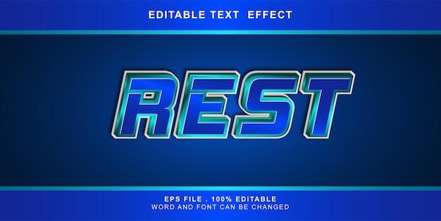 Rest text effekt bearbeitbare illustration