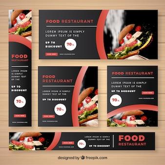 Restaurant banner mit food-fotografie