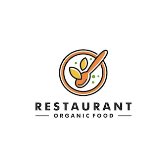 Restaurant bio-lebensmittel-logo-design-blatt-symbol-logo