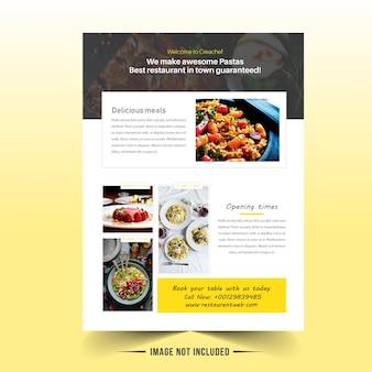 Restaurant broschüre vorlage