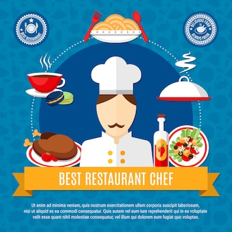 Restaurant chef illustration vorlage