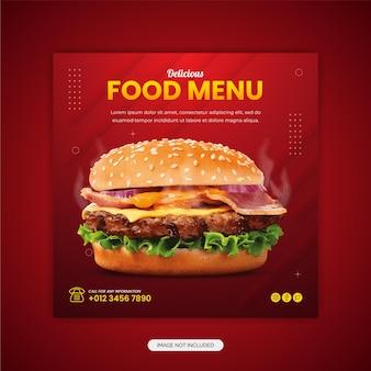 Restaurant delicious food social media post vorlage