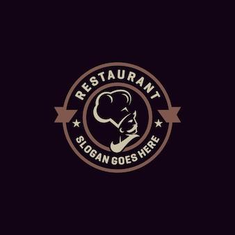 Restaurant emblem logo vektor