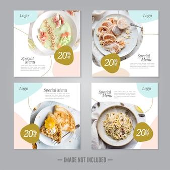 Restaurant essen social media banner beitragsvorlage