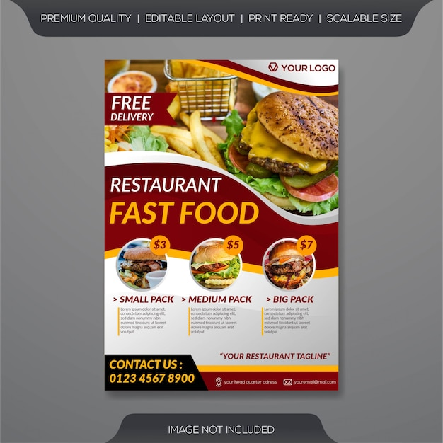 Restaurant flyer vorlage