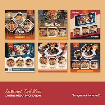 Restaurant food-menü social media-werbung