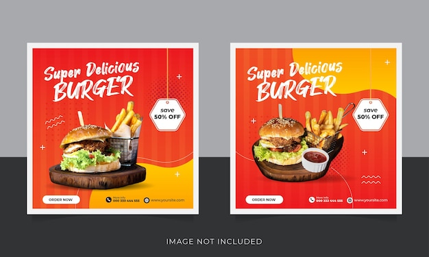 Restaurant food promotion horizontales web-banner.