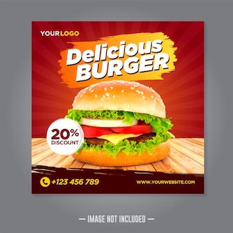 Restaurant food social media banner post design vorlage