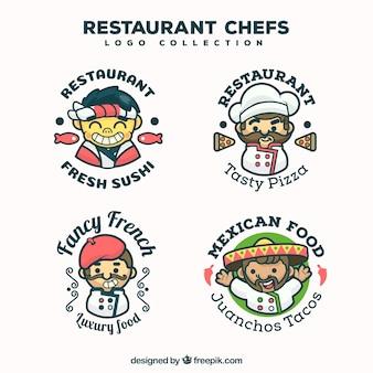 Restaurant koch logo sammlung