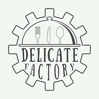 Restaurant logo abzeichen