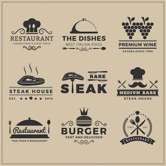 Restaurant-logo-vorlagen sammlung Kostenlosen Vektoren