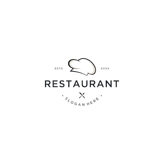 Restaurant-logodesign-vektorillustration