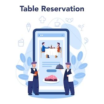 Restaurant online-service oder plattform