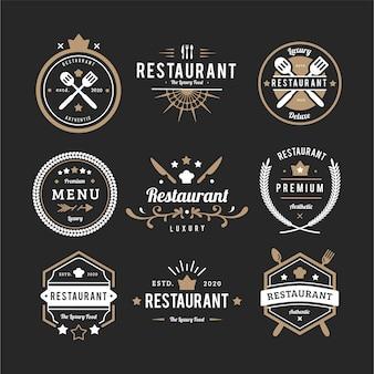 Restaurant retro-logo-auflistung