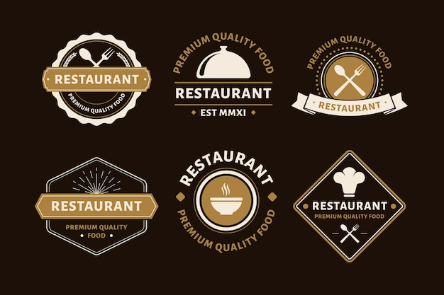 Restaurant retro-logo-pack