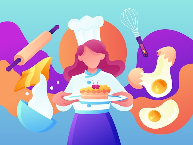 Restaurant und koch backen