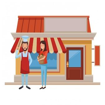 Restaurant und leute