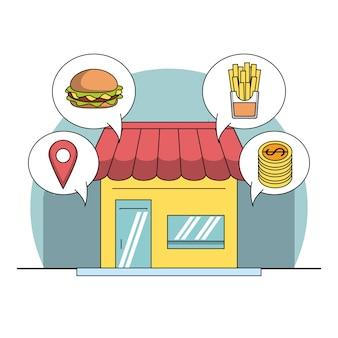 Restaurant und lieferung