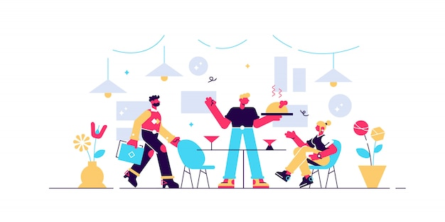 Restaurant vektor-illustration.