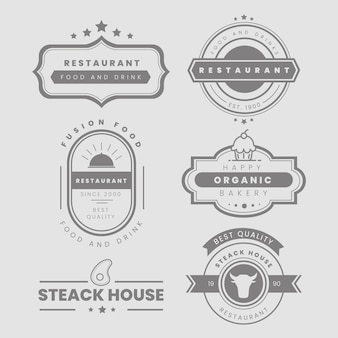 Restaurant vintage logo-pack