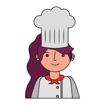 Restaurant weiblicher chef avatar charakter