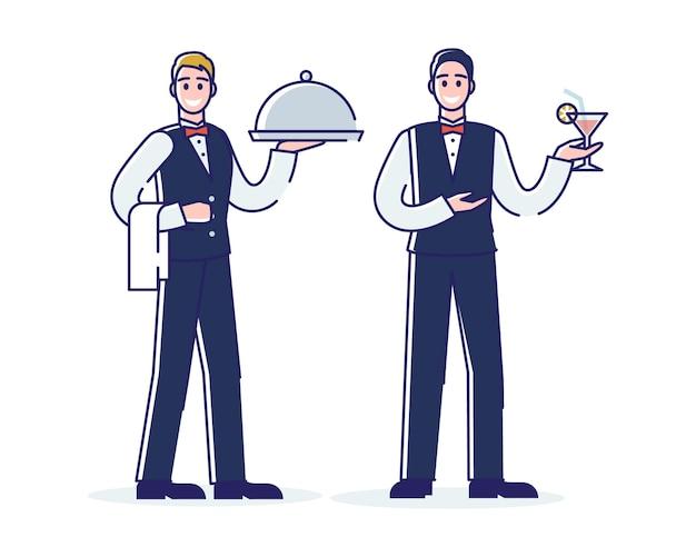 Restaurantarbeitsprozess, professioneller service und mitarbeiterkonzept.