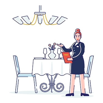 Restaurantarbeitsprozess, professionelles servicekonzept.