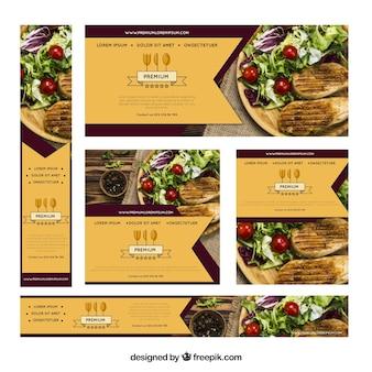 Restaurante banner mit food-fotografie