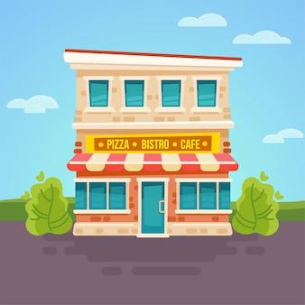 Restaurantgebäude.