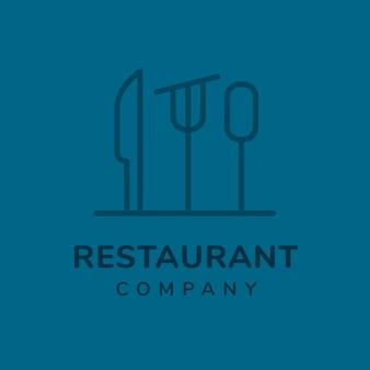 Restaurantlogo, lebensmittelgeschäftsschablone für branding-designvektor