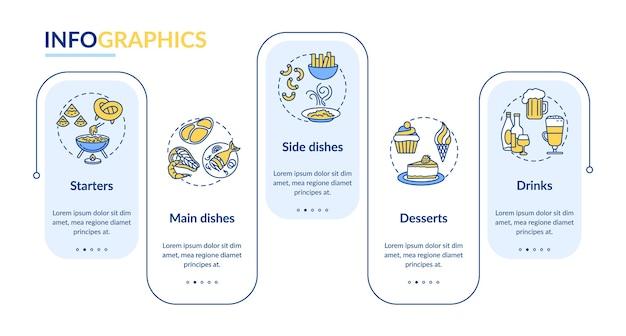 Restaurantmenü infografik vorlage
