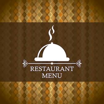 Restaurantmenü über brauner hintergrundvektorillustration