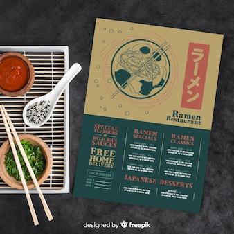 Restaurantmenüvorlage mit foto
