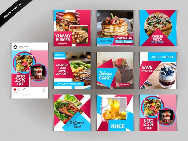Restaurantpost für soziale medien