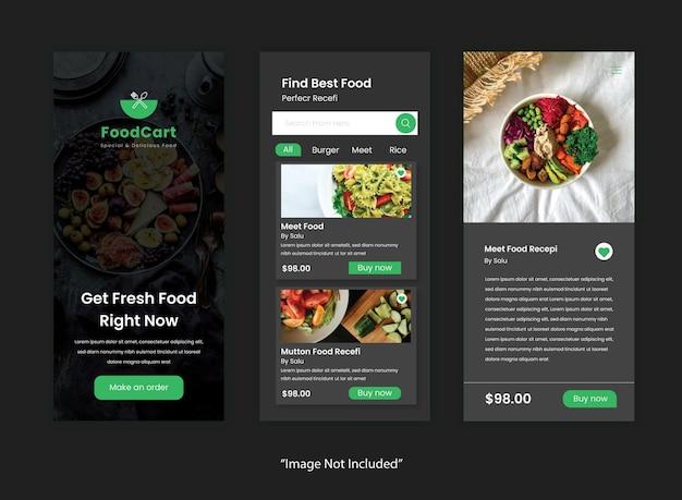 Restaurants mobile app ui-kit design-vorlage