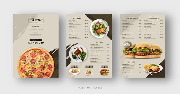 Restaurantspeisekarte und flyervorlage