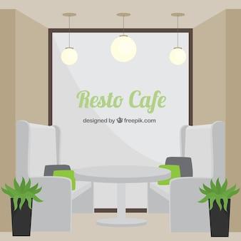 Resto café, minimalen stil