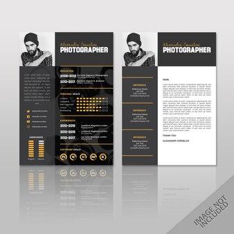 Resume fotograf schwarz