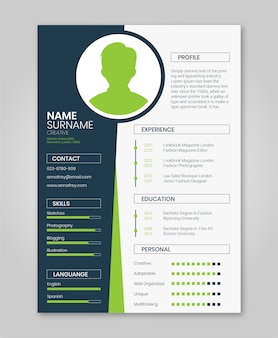Resume green minimalist