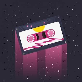Retro 80er jahre stil