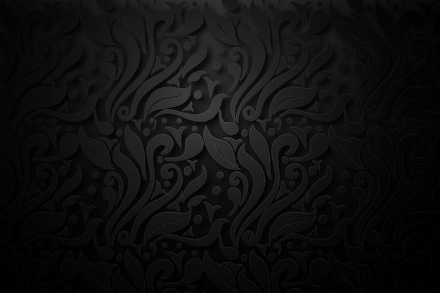 Retro abstrakter dekorativer blumenhintergrund