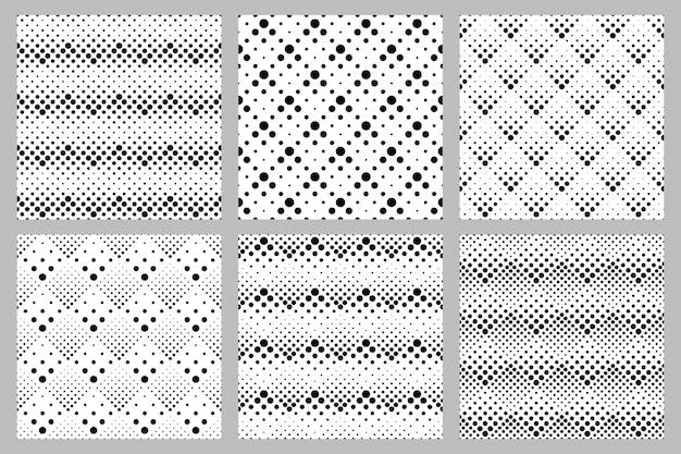 Retro- abstrakter punktmuster-designsatz